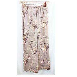 CLIO PETITES 90s Wallpaper Floral Maxi Skirt NWT